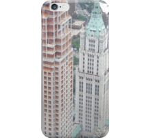 Aerial View of Lower Manhattan, Woolworth Building, View from One World Observatory, World Trade Center Observation Deck iPhone Case/Skin