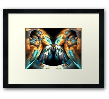 Apricot Wings Framed Print