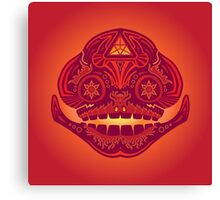 Goron Sugar Skull Canvas Print