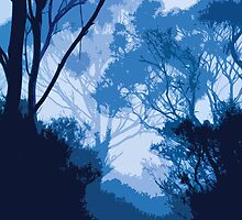 Trees In Blue by megsphotos