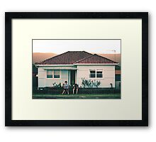 scenes from suburbia Framed Print