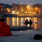 Varanasi Ghats-at Dusk-1 by Mukesh Srivastava