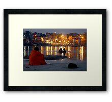Varanasi Ghats-at Dusk-1 Framed Print