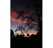 Cemetary Sunset Photographic Print
