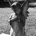 Somber Cemetary Statue by CG1977