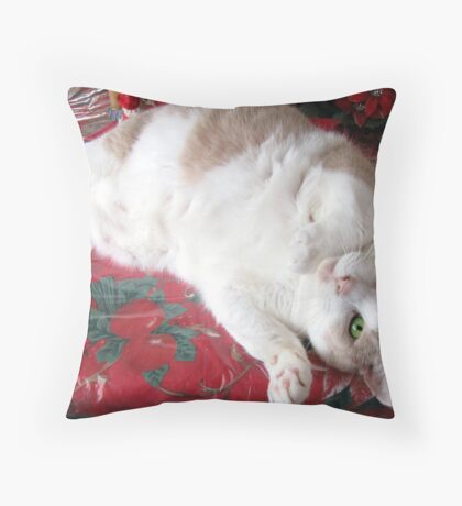 Christmas Ham Throw Pillow