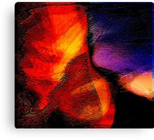 space works.... an abstract plan Canvas Print