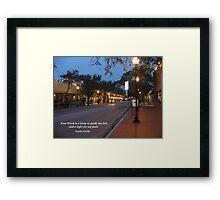 Tampa Twilight Framed Print