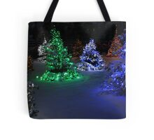 Electric Winter Wonderland Tote Bag