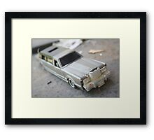 Abandoned Car in my Backyard Framed Print