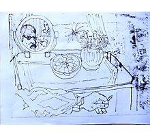 Self Portait In A Small Mirror. Photographic Print