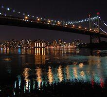 Triboro Bridge, New York -- Night by CG1977
