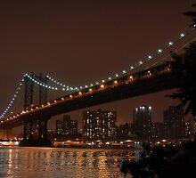 Manhattan Bridge, New York -- Night by CG1977