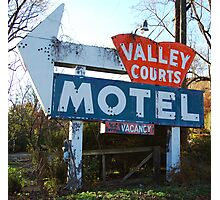 Old Motel Sign Photographic Print