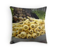 Root Veggies and Greens Throw Pillow