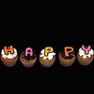 Happy Cupcakes - Black :) by tali