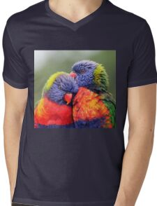 Canoodling in the Mist Mens V-Neck T-Shirt