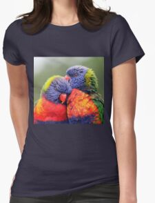 Canoodling in the Mist Womens Fitted T-Shirt