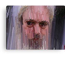 Tremulous Self-Portrait wit Rejected Sentiment Canvas Print