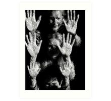 Hands at the Waterwall II. Mother's & Daughter. Art Print