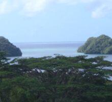a desolate Palau landscape Sticker