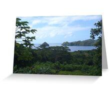 a desolate Palau landscape Greeting Card