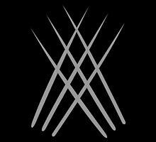 Wolverine Claws Minimalist by Fardan Munshi