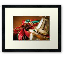 Christmas Ribbon Framed Print