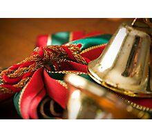 Christmas Ribbon Photographic Print