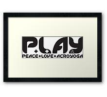 P.L.AY logo Framed Print