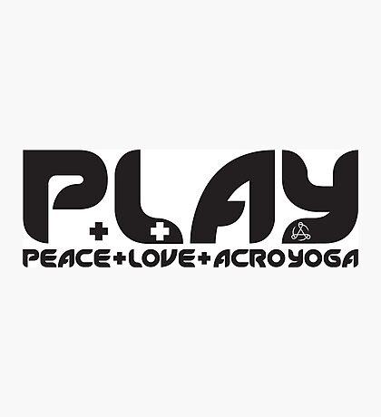 P.L.AY logo Photographic Print