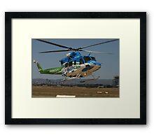 Helicopter Bell 412 flying #1 Framed Print