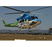 Helicopter Bell 412 flying #1 Photographic Print