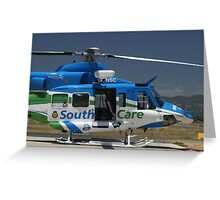 Helicopter Bell 412 #2 Greeting Card
