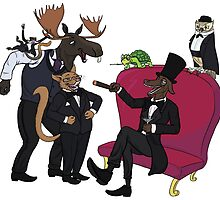 Classy animal party by Seb Fowler