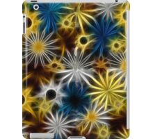 Blue and Yellow Fractal Daisies iPad Case/Skin