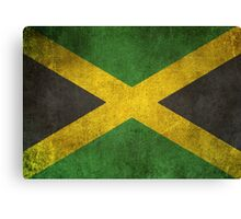 Old and Worn Distressed Vintage Flag of Jamaica Canvas Print