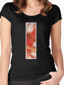 Ink Red Sunset Women's Fitted Scoop T-Shirt