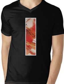 Ink Red Sunset Mens V-Neck T-Shirt