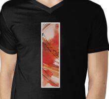 Ink Red Sunset Mens V-Neck T-Shirt