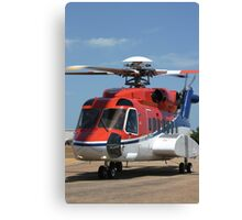 Helicopter Sikorsky S91 taxiing #1 Canvas Print