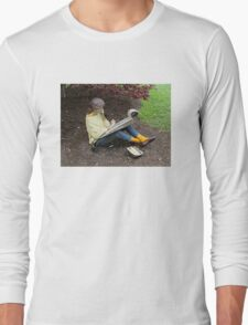 Sketching Under The Red Maple (Close-up) Long Sleeve T-Shirt
