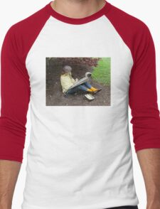 Sketching Under The Red Maple (Close-up) Men's Baseball ¾ T-Shirt