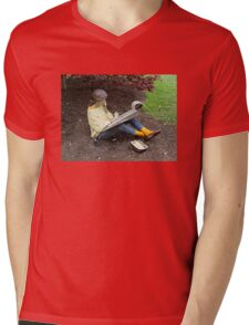 Sketching Under The Red Maple (Close-up) Mens V-Neck T-Shirt
