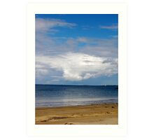 beautiful clouds on a summer's day Art Print