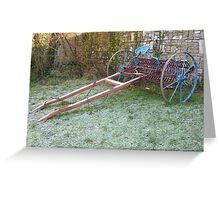 Old Farm Machinery Greeting Card
