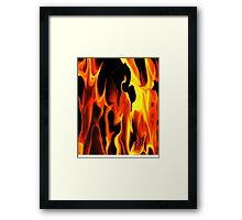 Black Fire-Available As Art Prints-Mugs,Cases,Duvets,T Shirts,Stickers,etc Framed Print