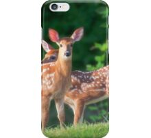 Spring Twins (White Tailed Deers) iPhone Case/Skin