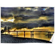 Hood Canal Bridge #2 ~ Port Townsend, WA ~ HDR Series Poster