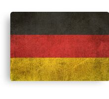 Old and Worn Distressed Vintage Flag of Germany Canvas Print